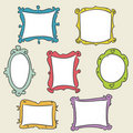 Hand drawn frames Stock Photography