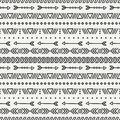 Hand drawn geometric ethnic seamless pattern wrapping paper scrapbook paper doodles style tiling tribal native vector illustration Stock Images