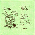 Hand drawn gin and tonic cocktail illustration with sketch including recipe ingredients on the grunge vintage background Royalty Free Stock Photo