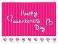 Hand-drawn greeting card, banner Happy Valentine`s Day
