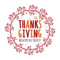 Thanksgiving day vector design concept with red maple leaves