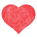 Hand drawn heart Royalty Free Stock Photos