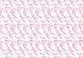 Hand drawn heart background in red