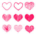 Hand drawn heart shape Stock Photo