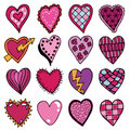 Hand drawn hearts Royalty Free Stock Photo