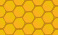 Hand-drawn honeycomb background vector illustration