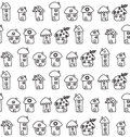 Hand drawn houses seamless pattern childish vector illustration Royalty Free Stock Photography