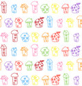 Hand drawn houses seamless pattern childish vector illustration Stock Photography