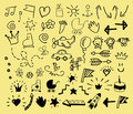 Hand drawn icons for children.