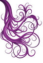 Hand drawn illustrated jumbled purple swirls Stock Images