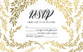 Hand drawn illustration - wedding invitation RSVP with vi