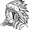 Hand drawn indian chief sketch of an Royalty Free Stock Photos