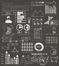 Hand drawn infographic elements