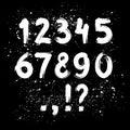 Hand drawn ink brush numbers