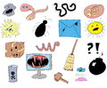 Hand drawn internet security icons Royalty Free Stock Photography