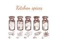 Hand Drawn Kitchen Spices Set