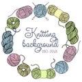 Hand drawn knitting frame