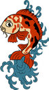 Hand-drawn koi (carp fish) Royalty Free Stock Image