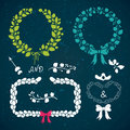 Hand drawn laurels vector set of Royalty Free Stock Images