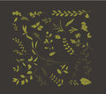 Hand drawn leafs autumn collection floral for design Royalty Free Stock Photo