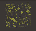 Hand drawn leafs autumn collection floral for design Stock Photography