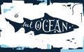 Hand drawn lettering - feel the ocean