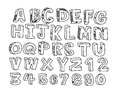 Hand drawn letters font an imagese of real written with a pen Royalty Free Stock Images