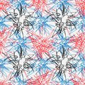 Hand drawn line seamless pattern. Doodle design element. Scribble line Royalty Free Stock Photo