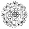 Hand-Drawn Mandala