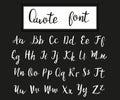 Hand drawn modern script, quote font