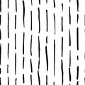 Hand drawn monochrome black and white seamless abstract pattern. Ink sketch texture and background.