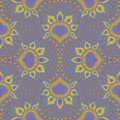 Hand drawn moroccan seamless fabric vector design Royalty Free Stock Photo