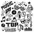 Ručně malované hudobné ikony