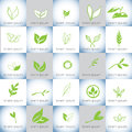 Hand drawn organic illustrations vector logo set