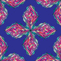 Hand drawn ornament pattern. Vector geometric tracery seamless background.