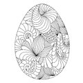 Hand drawn ornamental easter eggs for coloring book for adult an