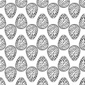 Hand drawn ornamental eggs seamless pattern.