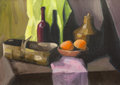 Hand drawn painting still life Royalty Free Stock Photo