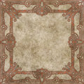Hand drawn parchment with decorative border Royalty Free Stock Photo