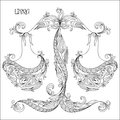 Hand drawn pattern for coloring book zodiac Libra. Royalty Free Stock Photo