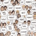 People with speech bubbles Royalty Free Stock Photo