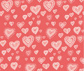 Hand drawn pattern woth hearts Royalty Free Stock Photo