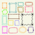 Hand drawn  photo frames Stock Photos