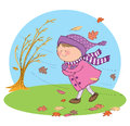 Hand drawn picture autumn season illustrated loose style vector eps available Stock Images