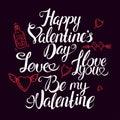 Hand drawn quotes for Valentine designe