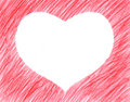 Hand-drawn red heart shape Royalty Free Stock Photo