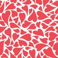 Hand drawn red tossed hearts in a seamless repeat vector pattern. A romantic print pattern ideal for valentines and