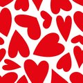 Hand Drawn Red Hearts Pattern ...