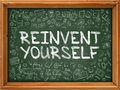 Hand Drawn Reinvent Yourself on Green Chalkboard. Royalty Free Stock Photo