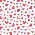 Hand Drawn Retro Heart Seamles...
